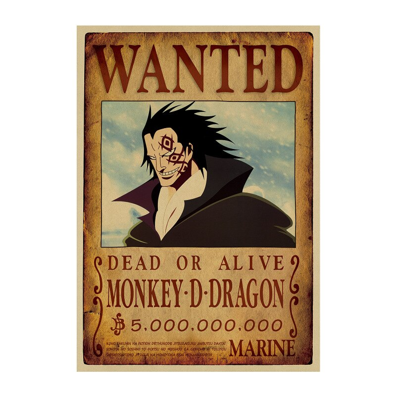 Affiche Wanted One Piece Monkey D. Dragon
