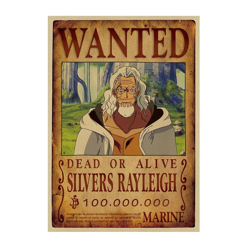 affiche wanted avis de recherche silvers rayleigh one piece