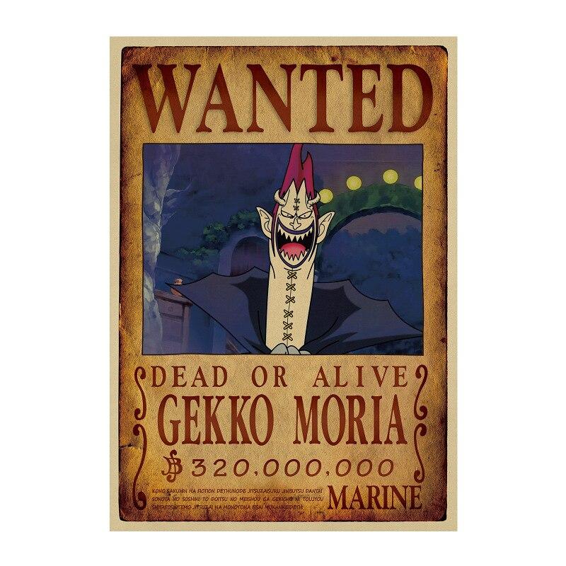 Affiche Wanted One Piece Gekko Moria