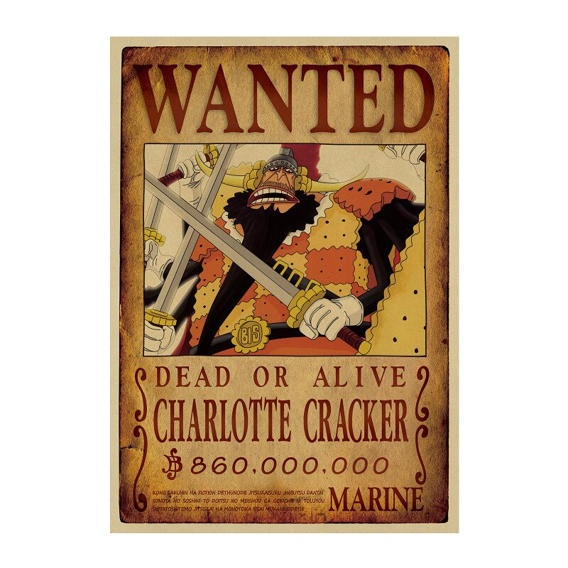 Affiche Wanted One Piece Charlotte Cracker