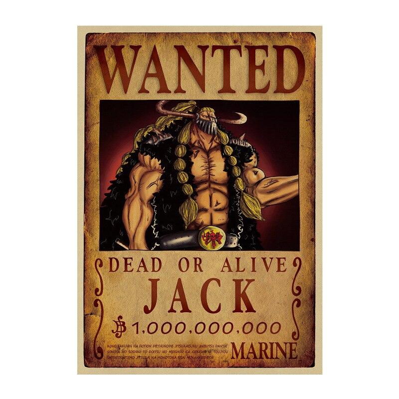 affiche wanted avis de recherche jack one piece