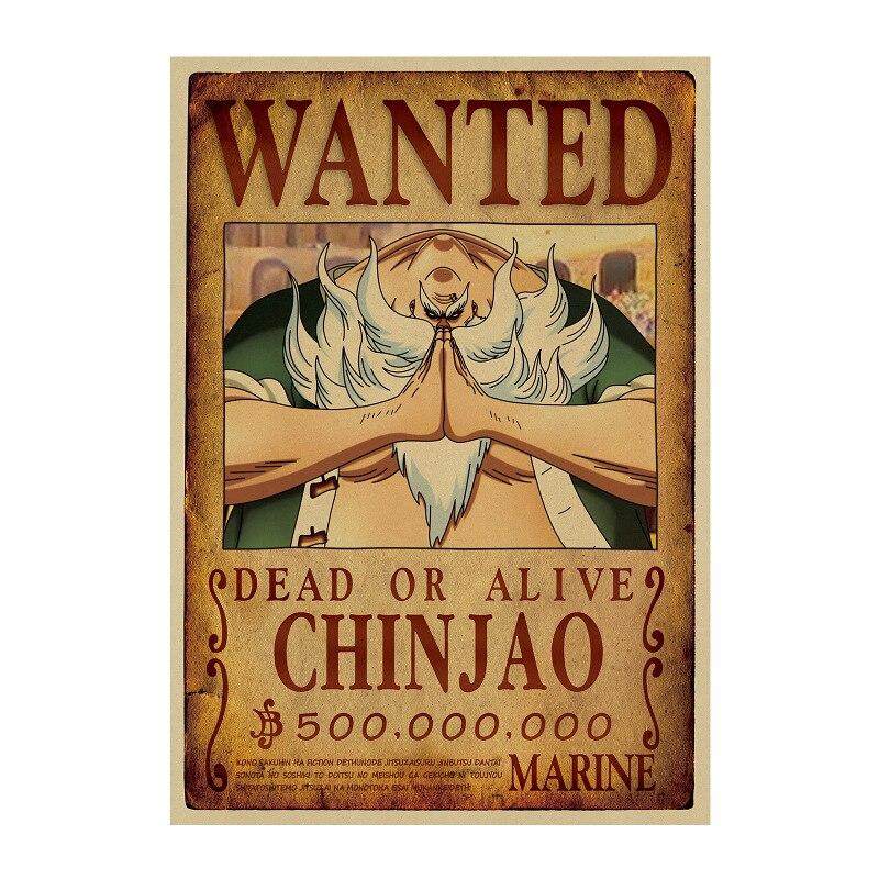 affiche wanted avis de recherche chinjao one piece
