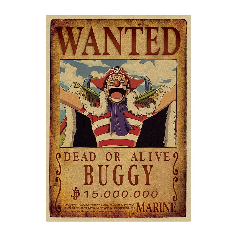Affiche Wanted One Piece Baggy