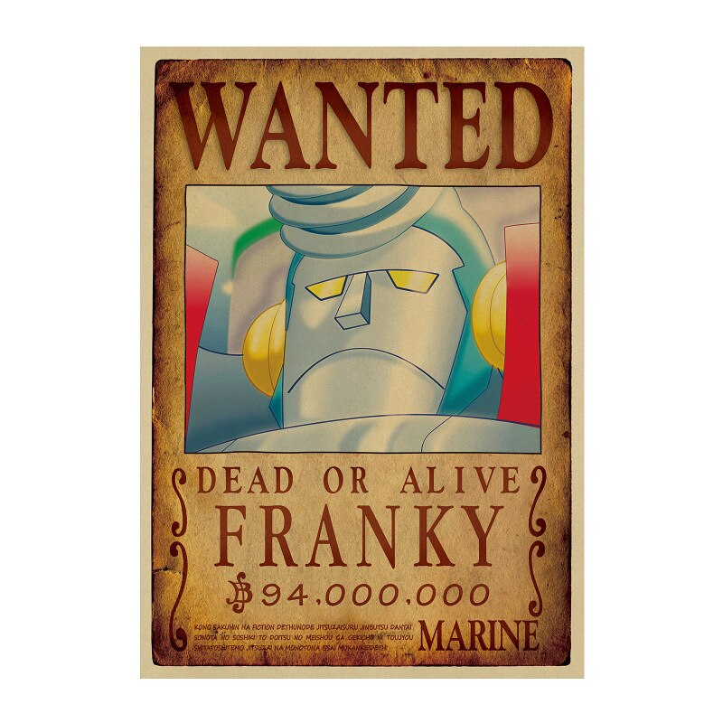 Affiche Wanted One Piece Franky 2