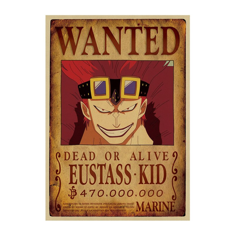 Affiche Wanted One Piece Eustass Kid