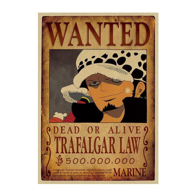 Affiche Wanted One Piece Trafalgar Law