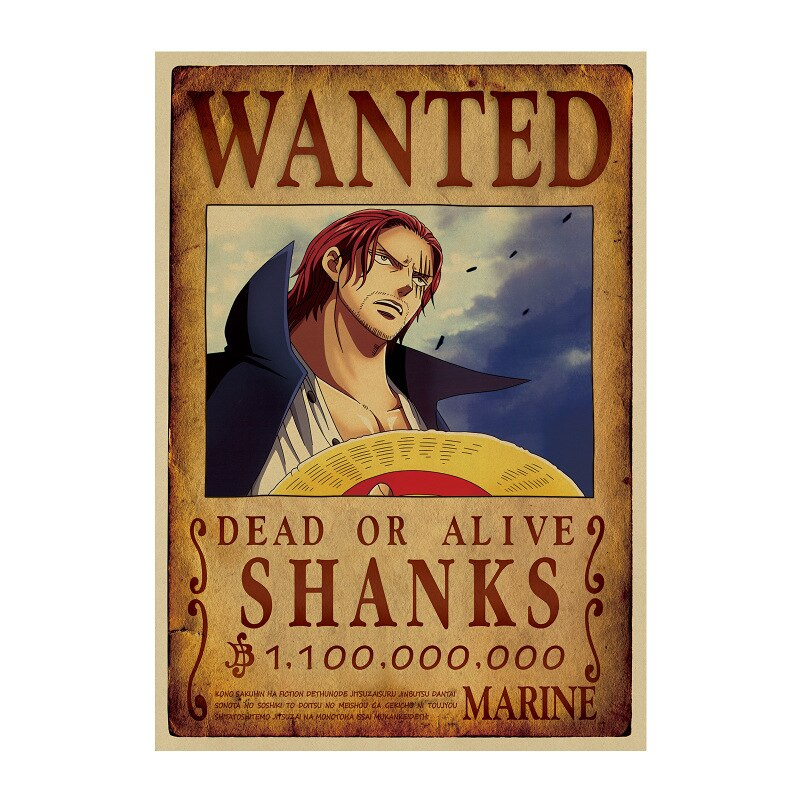 Affiche Wanted One Piece Shanks