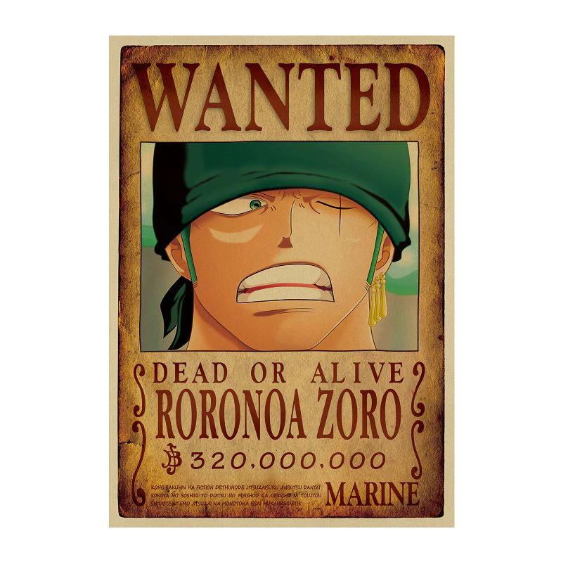 Affiche Wanted One Piece Roronoa Zoro