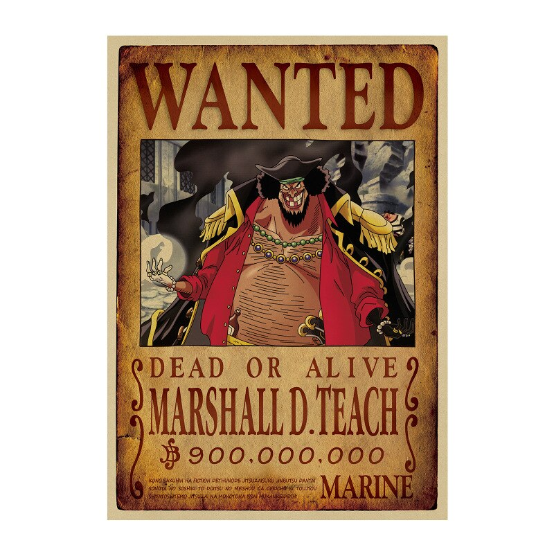 Affiche Wanted One Piece Marshall D. Teach