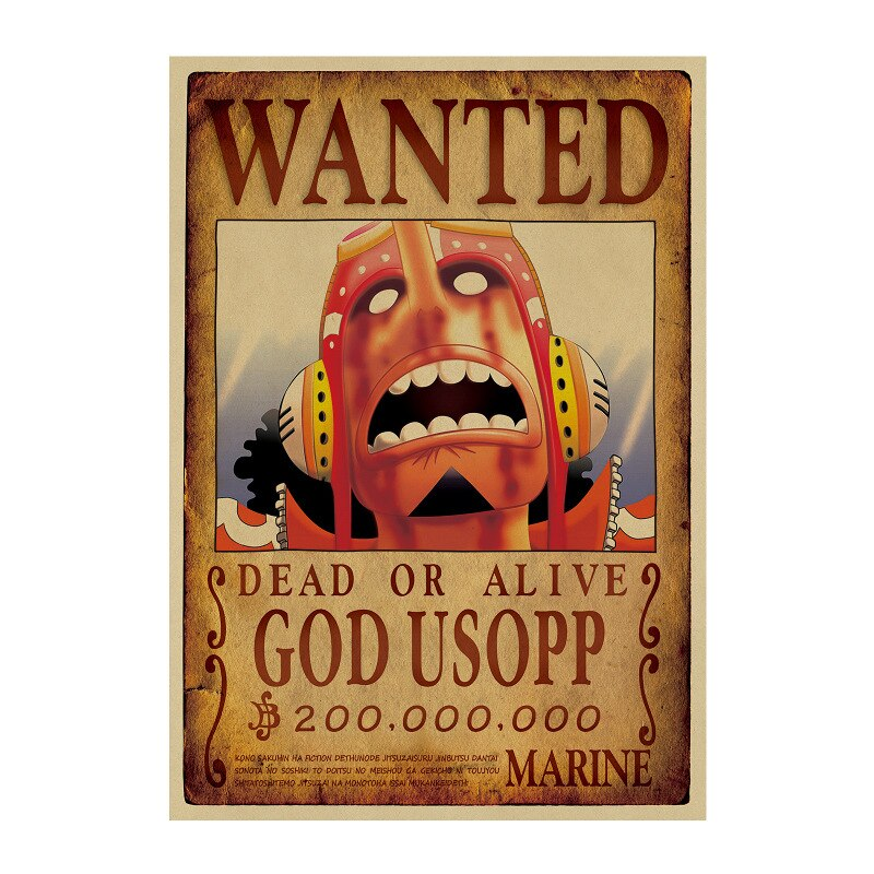Affiche Wanted One Piece God Usopp