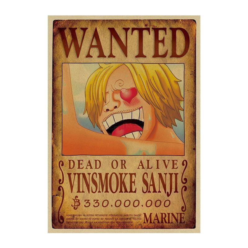 Affiche Wanted One Piece Vinsmoke Sanji