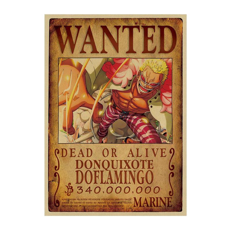 Affiche Wanted One Piece Don Quichotte Doflamingo