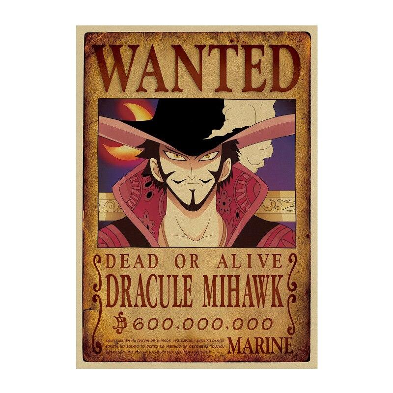 affiche wanted avis de recherche dracule mihawk one piece