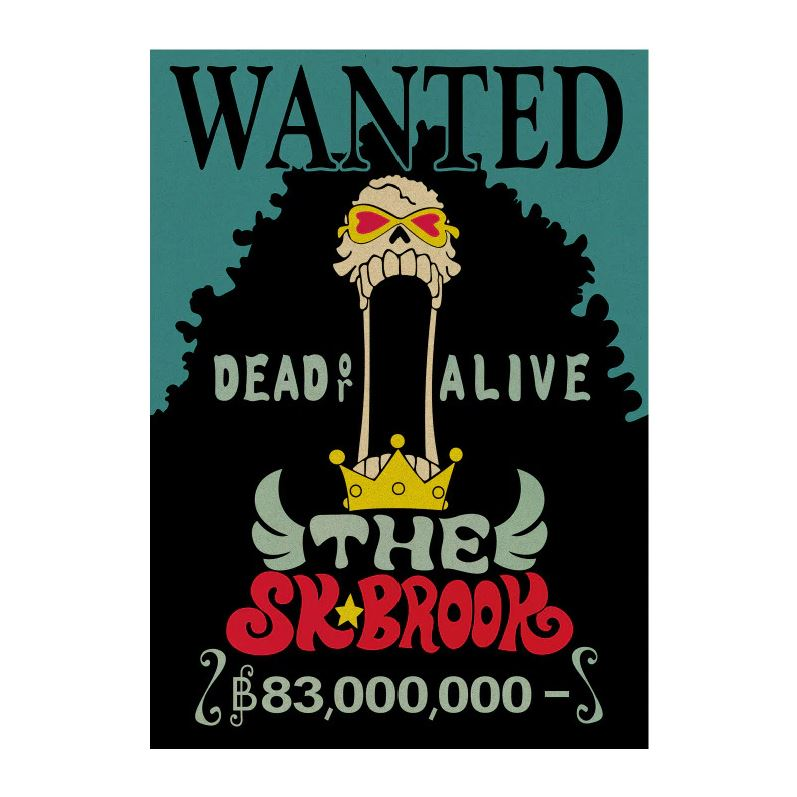 Affiche Wanted One Piece Brook