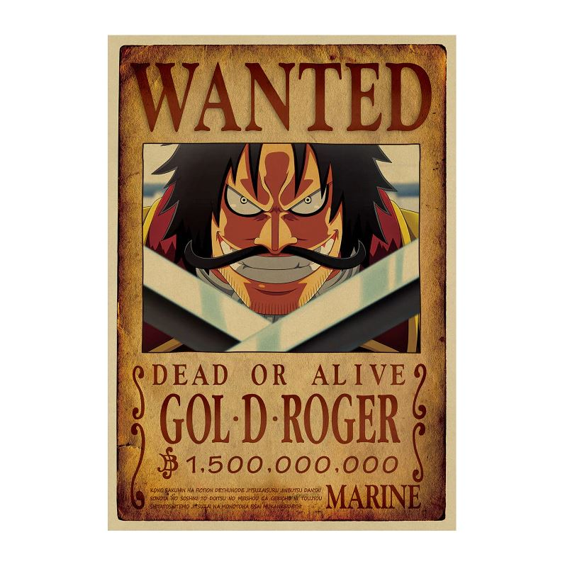 Affiche Wanted One Piece Gol D. Roger