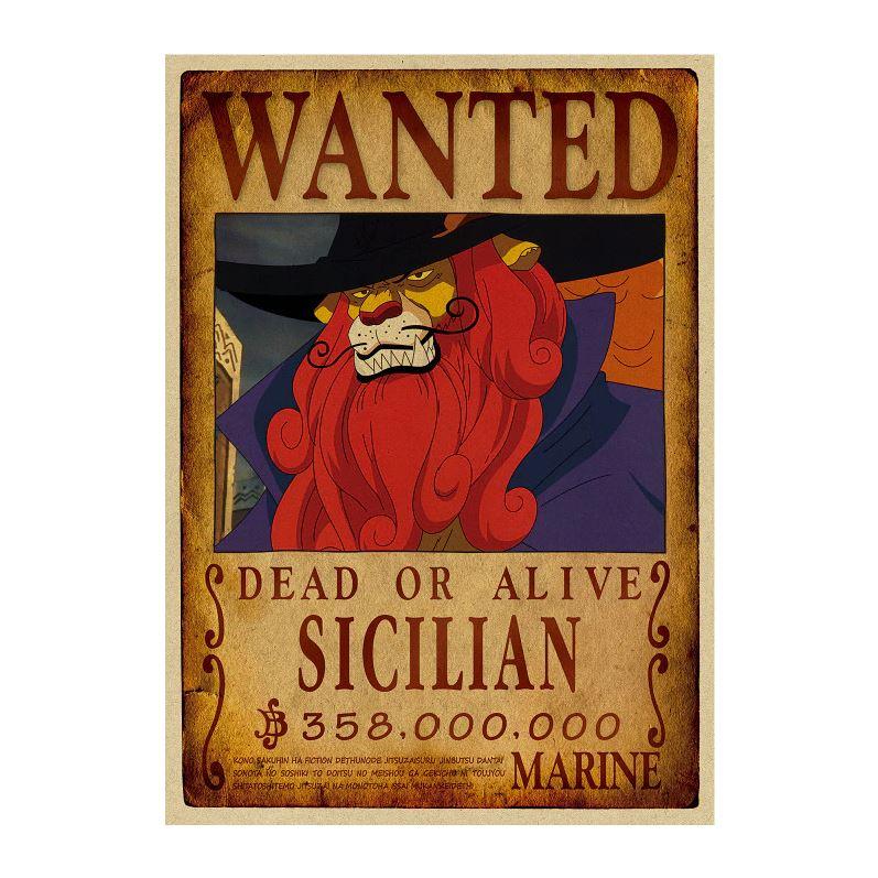 affiche wanted avis de recherche sicilian one piece