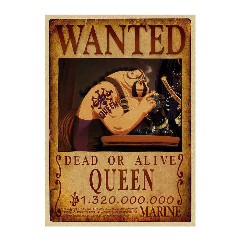 affiche wanted avis de recherche queen one piece
