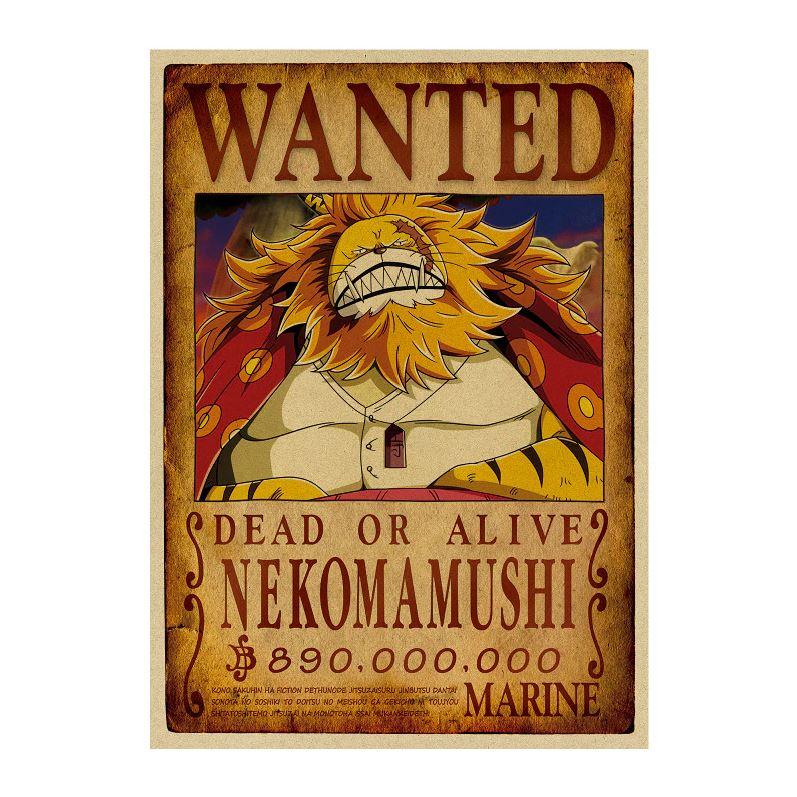 affiche wanted avis de recherche nekomamushi one piece