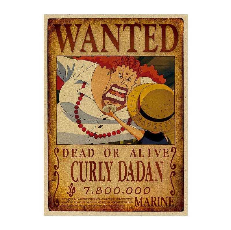 affiche wanted avis de recherche curly dadan one piece
