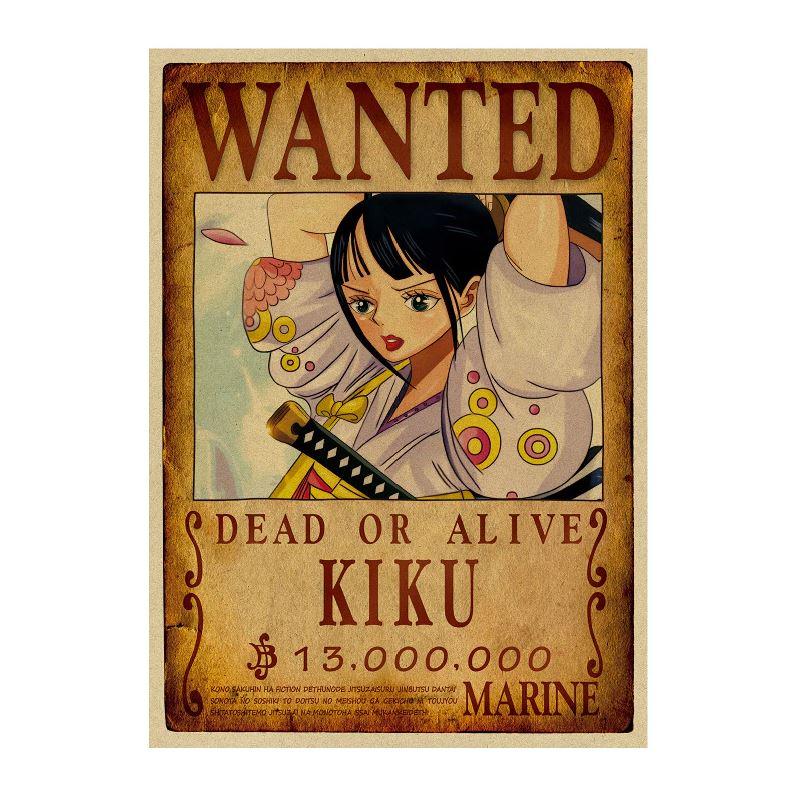 affiche wanted avis de recherche kiku one piece