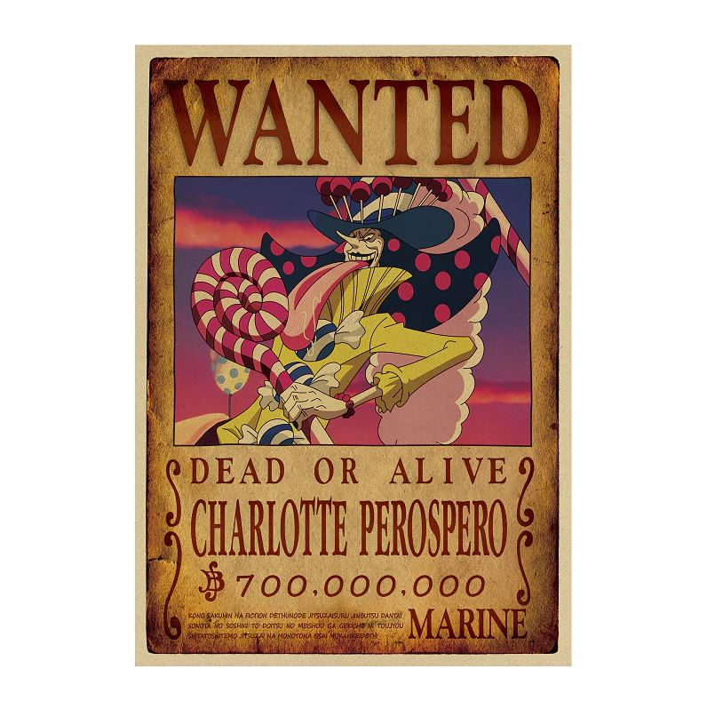 Affiche Wanted One Piece Charlotte Perospero