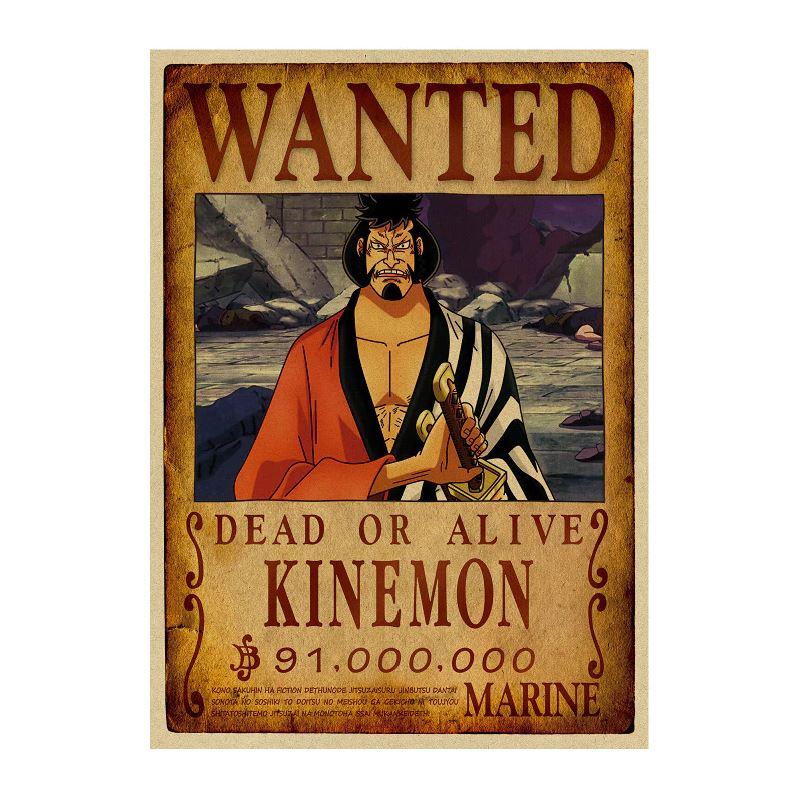 affiche wanted avis de recherche kinemon one piece
