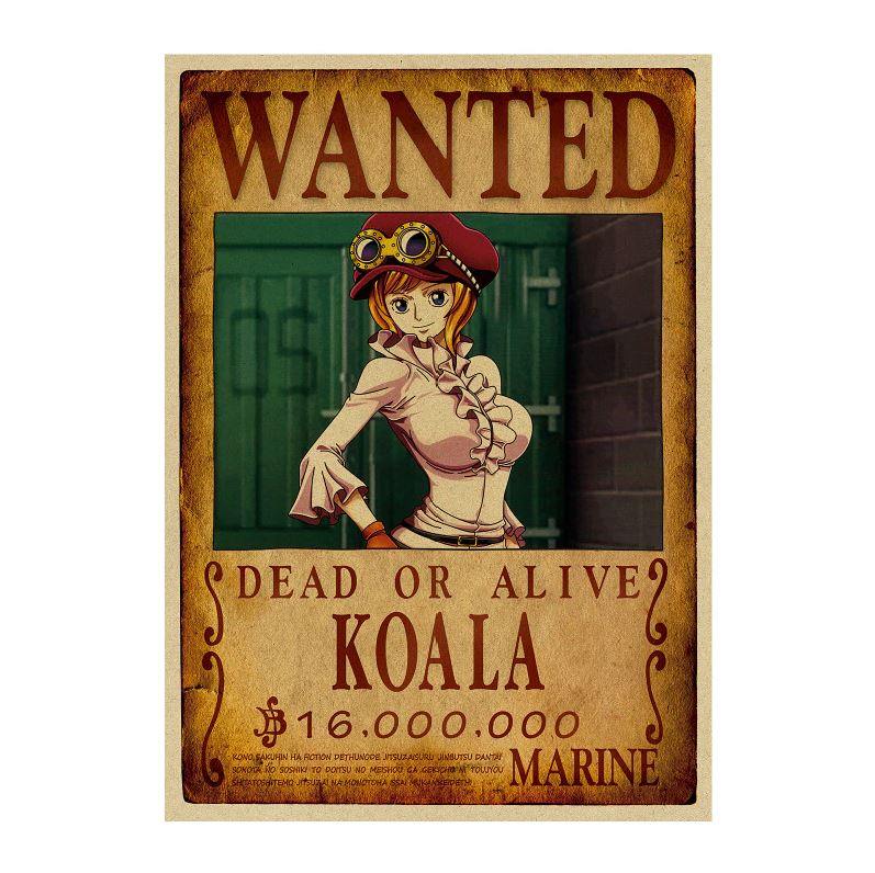 affiche wanted avis de recherche koala one piece