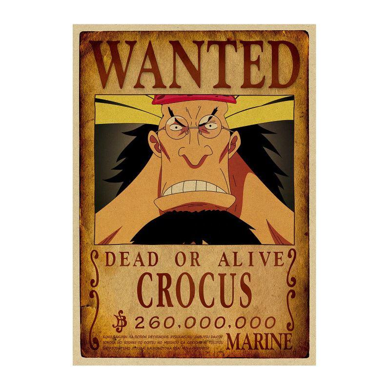 affiche wanted avis de recherche crocus one piece