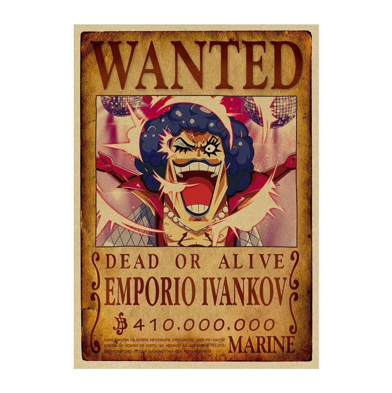affiche wanted avis de recherche emporio ivankov one piece