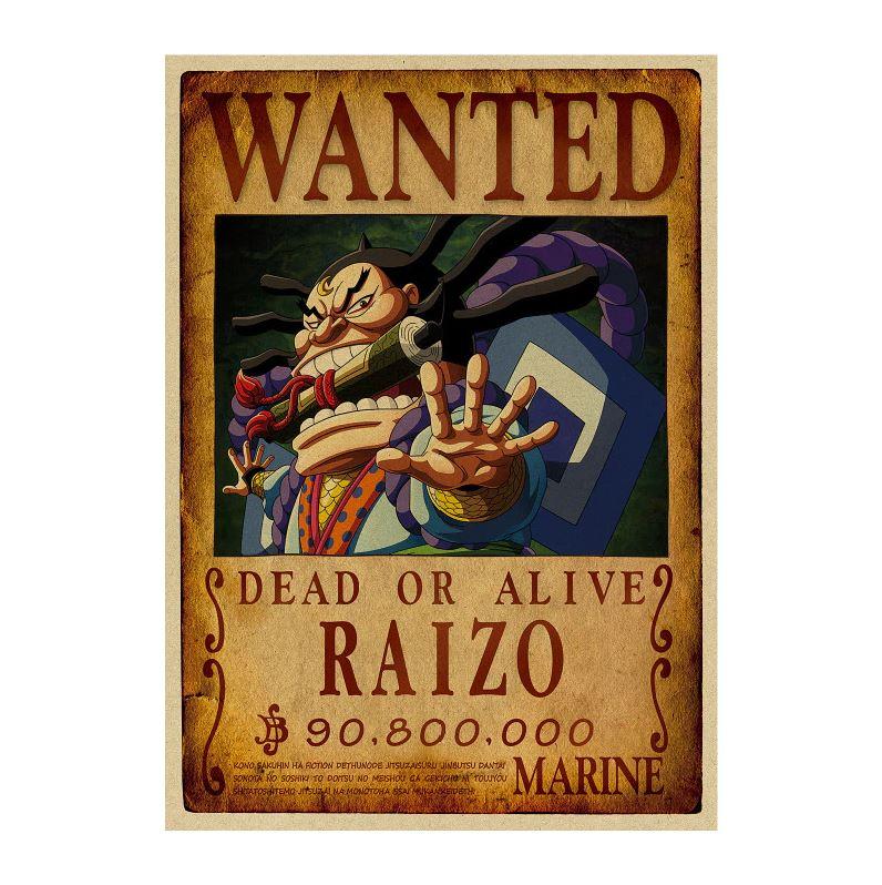 affiche wanted avis de recherche raizo one piece