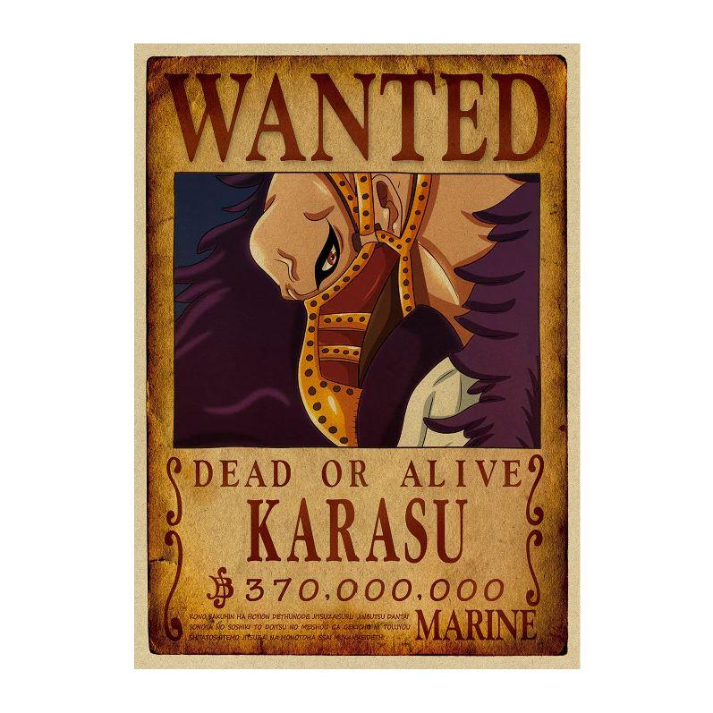 affiche wanted avis de recherche karasu one piece