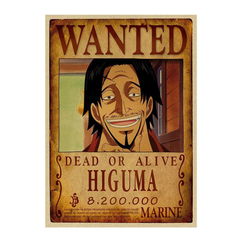 affiche wanted avis de recherche higuma one piece
