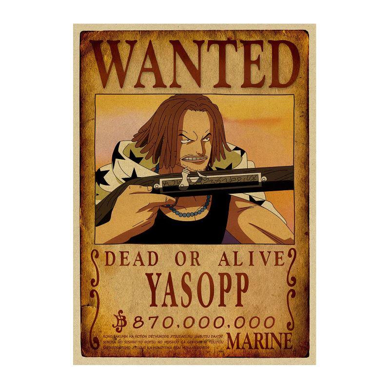 affiche wanted avis de recherche yasopp one piece