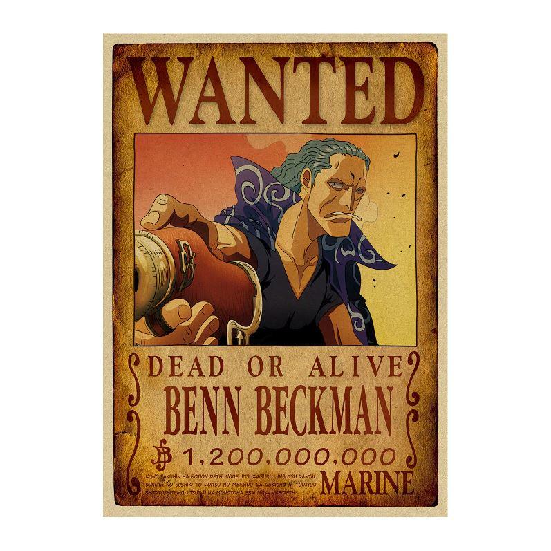 affiche wanted avis de recherche benn beckman one piece