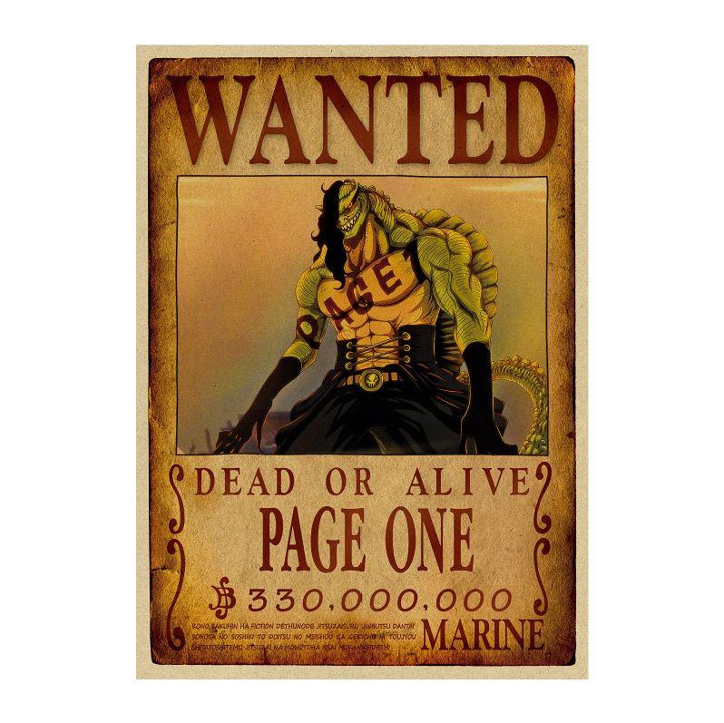 affiche wanted avis de recherche page one one piece