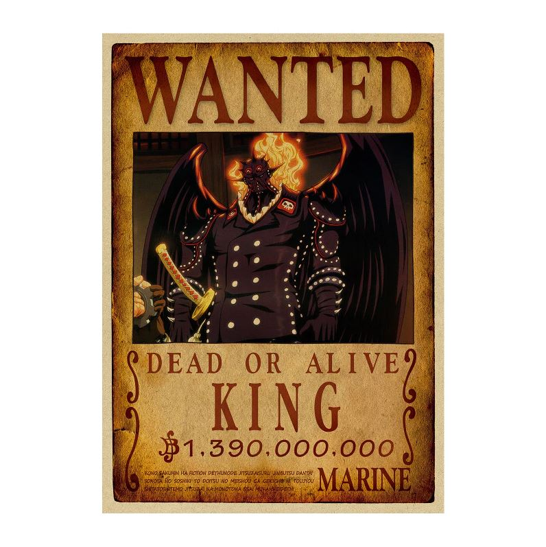 Affiche Wanted One Piece King