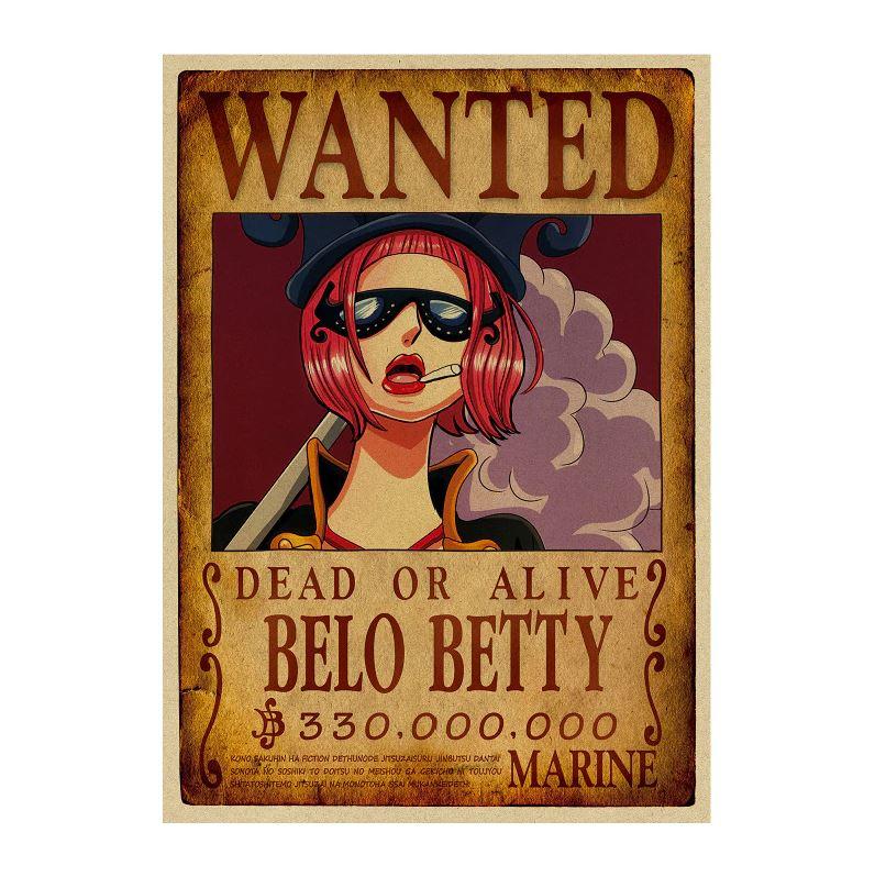 affiche wanted avis de recherche belo betty one piece