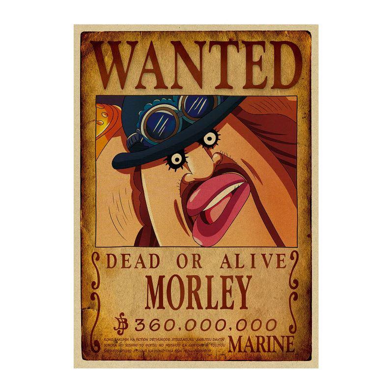 affiche wanted avis de recherche morley one piece