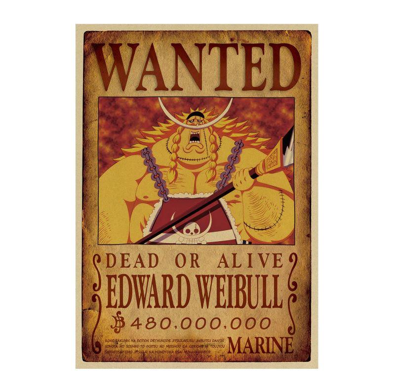 affiche wanted avis de recherche edward weibull one piece