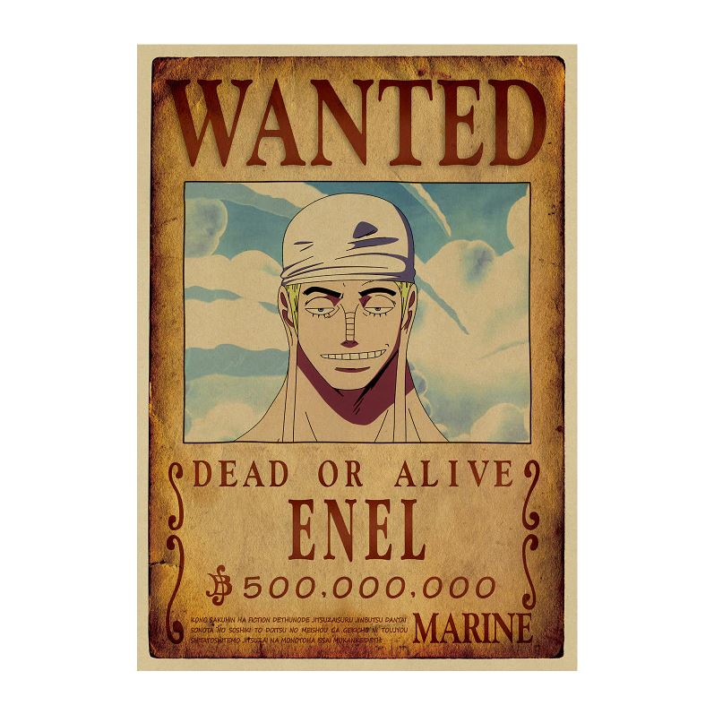 Affiche Wanted One Piece Enel