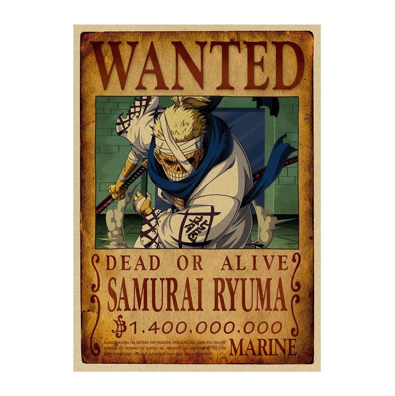 affiche wanted avis de recherche samurai ryuma one piece