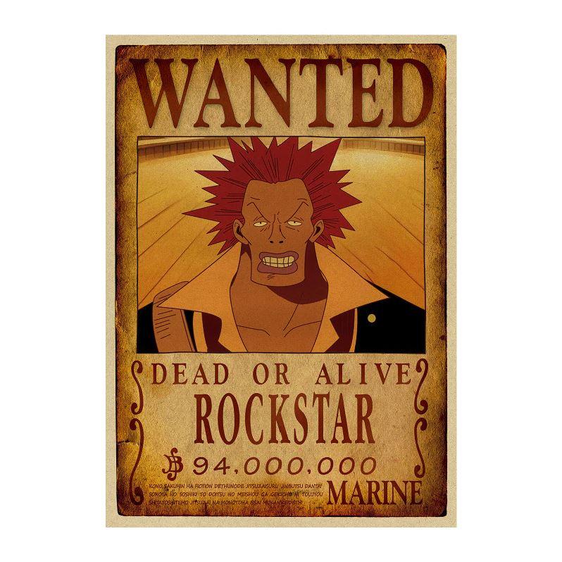 affiche wanted avis de recherche rockstar one piece