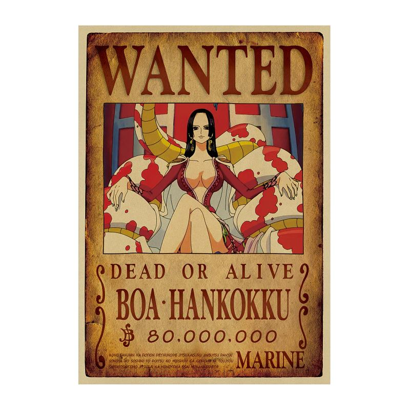 Affiche Wanted One Piece Boa Hancock