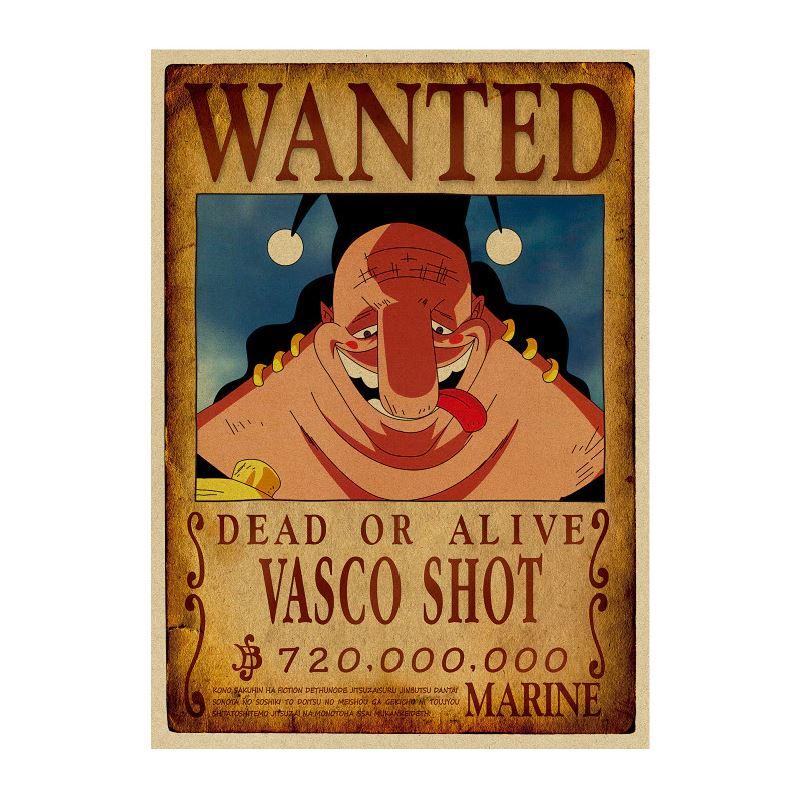 affiche wanted avis de recherche vasco shot one piece