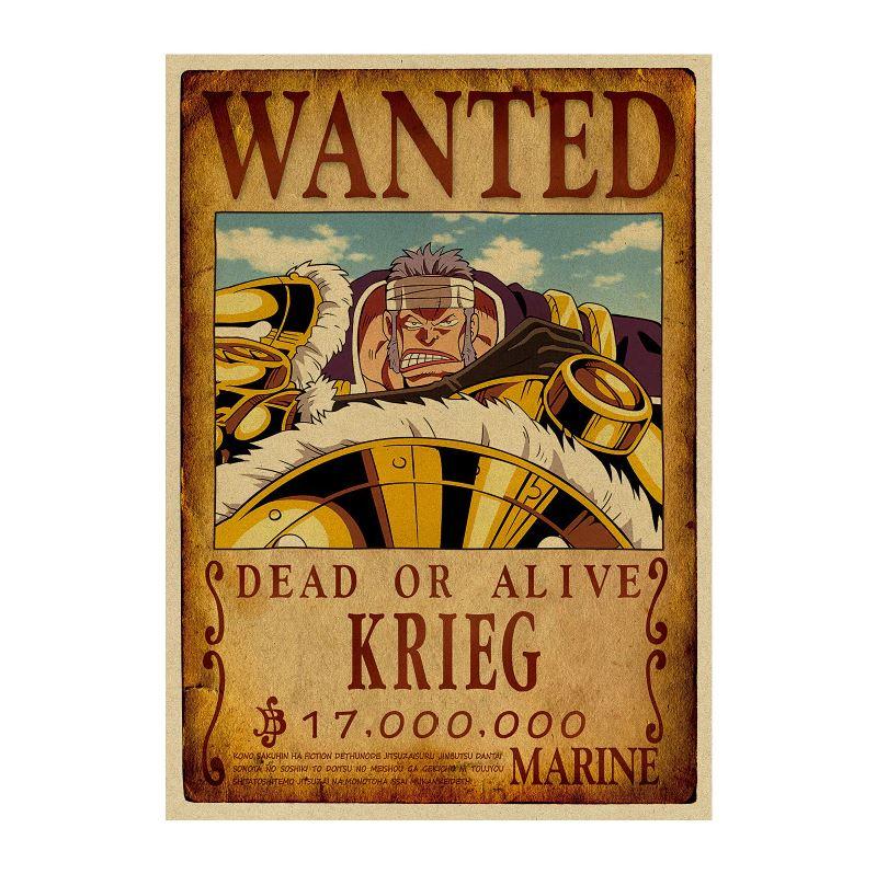 affiche wanted avis de recherche krieg one piece