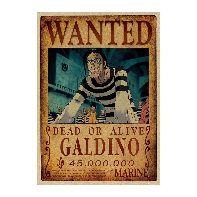 affiche wanted avis de recherche galdino one piece