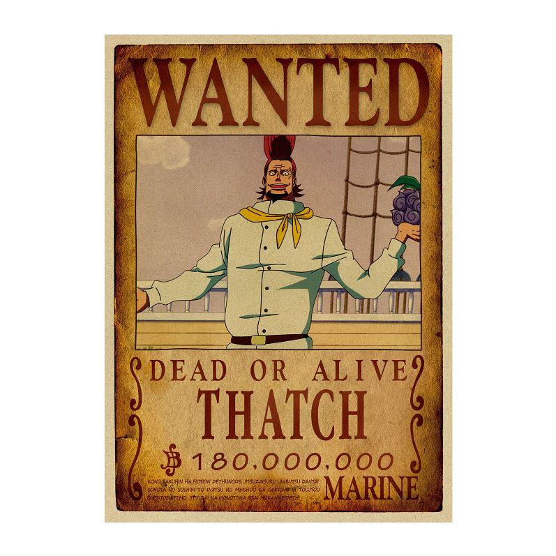 affiche wanted avis de recherche thatch one piece