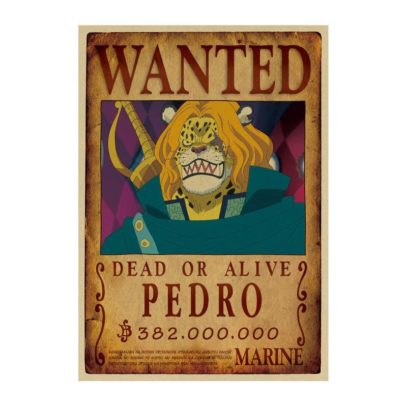 affiche wanted avis de recherche pedro one piece