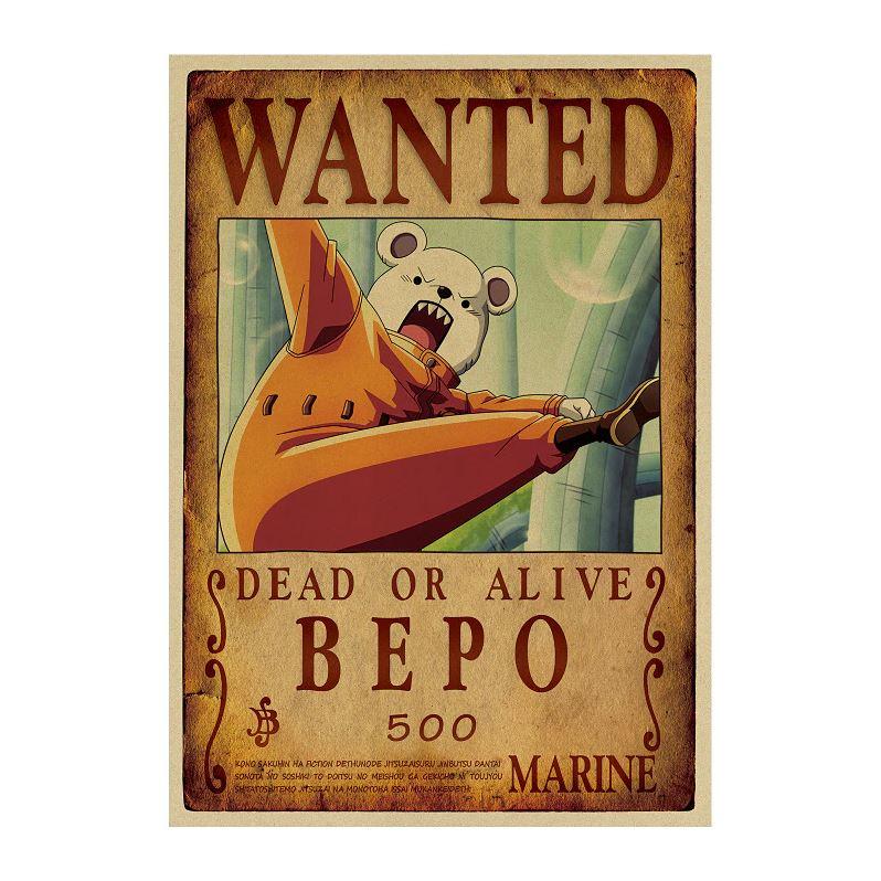 affiche wanted avis de recherche bepo one piece