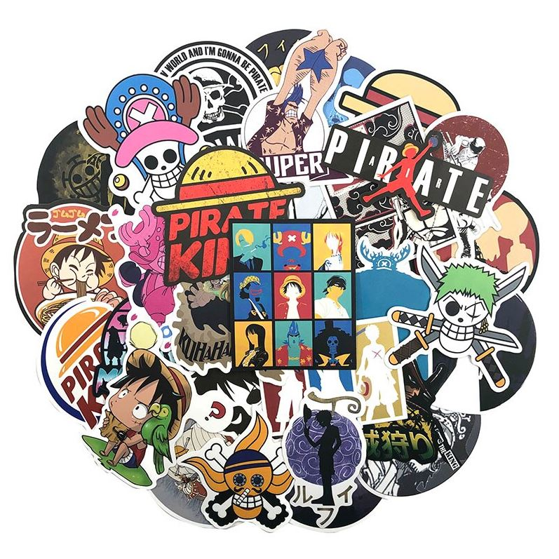Autocollants One Piece Pack Logos 2 x100